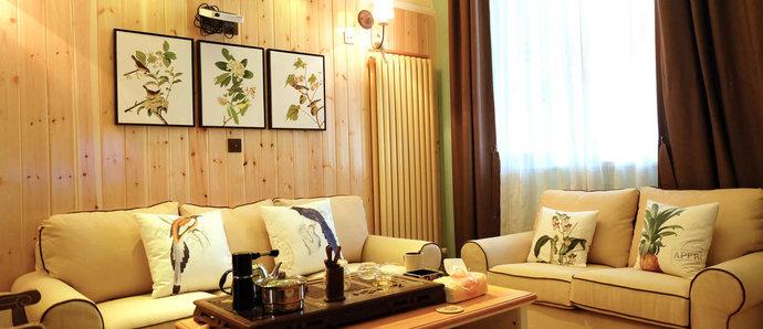 当美式装上原木风格,打造温馨三居室