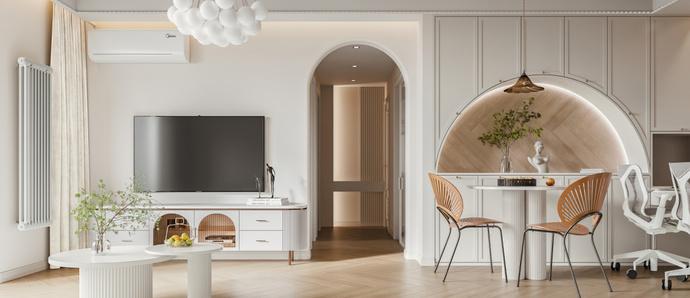 小两居轻法式风格的浪漫婚房设计